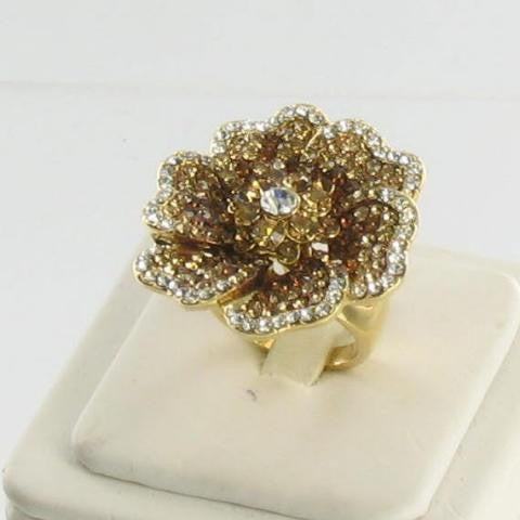 Gold base Topaz stone ring