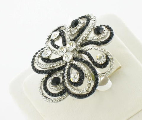Silver Base Black Stone Ring