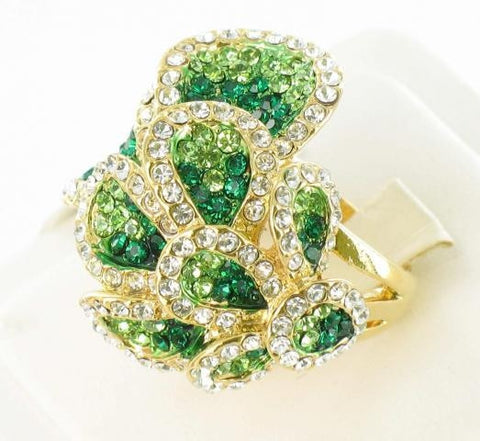Gold Base Emerald green Stone Ring