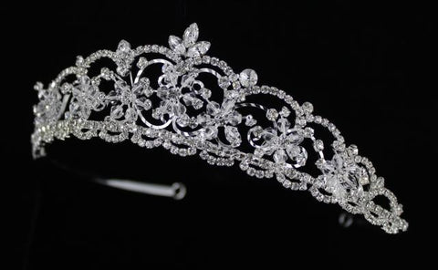 Silver Base Clear (001) Stone Tiara