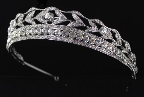 Silver Base Clear(001) Stone Tiara