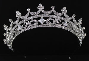 Silver Base Clear Stone Tiara