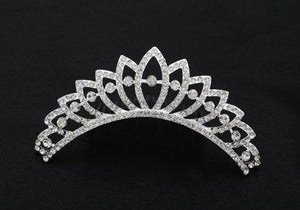 Silver Base Clear Stone Hair Comb