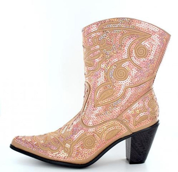 Gold Bling Short Boots