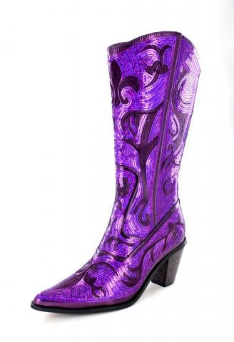 Purple Bling Boots