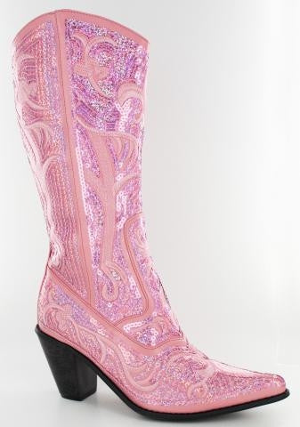 Pink Bling Cowboy Boots