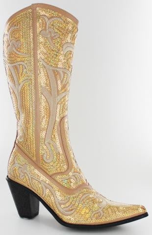 Gold Bling Cowboy Boots