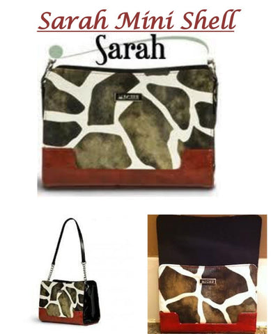 MICHE SARAH MINI SHELL GIRAFFE PRINT SHELL & BASE BAG