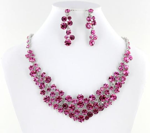 AB Crystal Stone Necklace Set