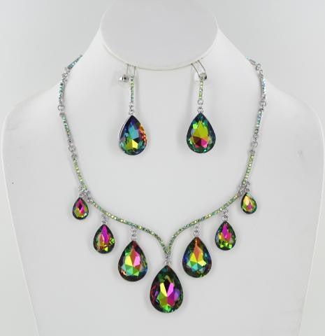 Crystal Stone Necklace Set. 1