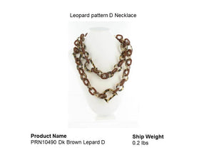 Leopard pattern D Necklace