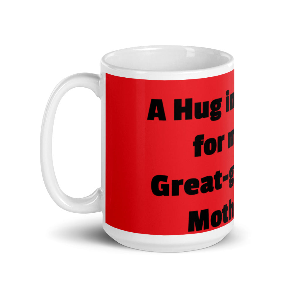 Red & black glossy mug for Great- grandfather