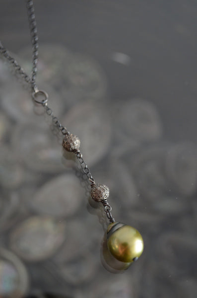 Diamond and Tahitian Necklaces - Vyn