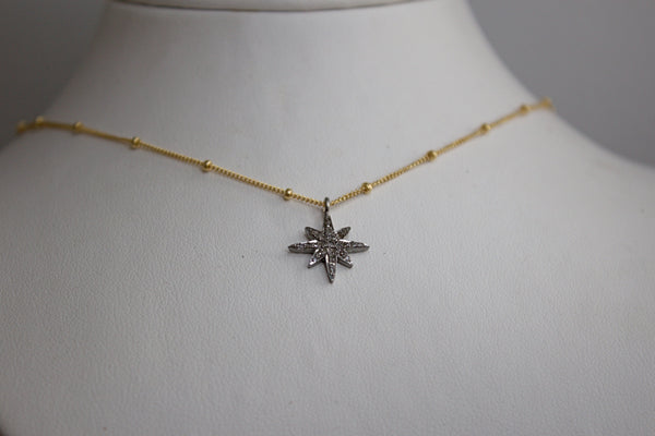 Diamond Moon Necklace - Vyn