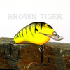 Old School Balsa Baits Squarebill 1 in Brown Tiger