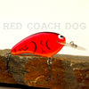 Old School Balsa Baits Wesley Strader Series W2 in Red Coach Dog
