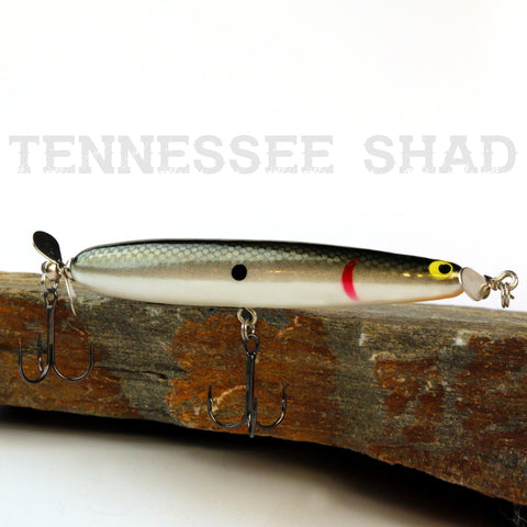 Old School Balsa Baits Twinspin in Tennessee Shad