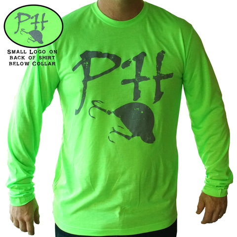 PH  - Moisture Wicking Grunged PH Logo LS Shirt