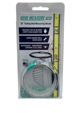 "Quik Measure Pro - 36"" Fishing Rod Measuring Decals"