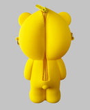 Silicone Yellow Bear Purse