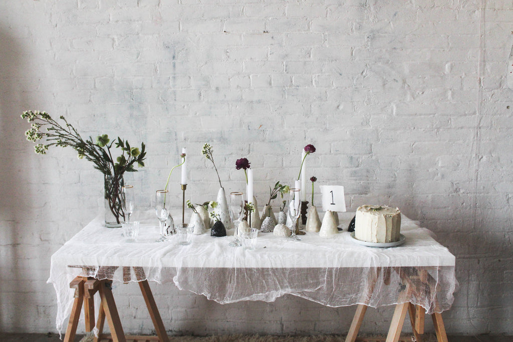 L&R Studio vases wedding