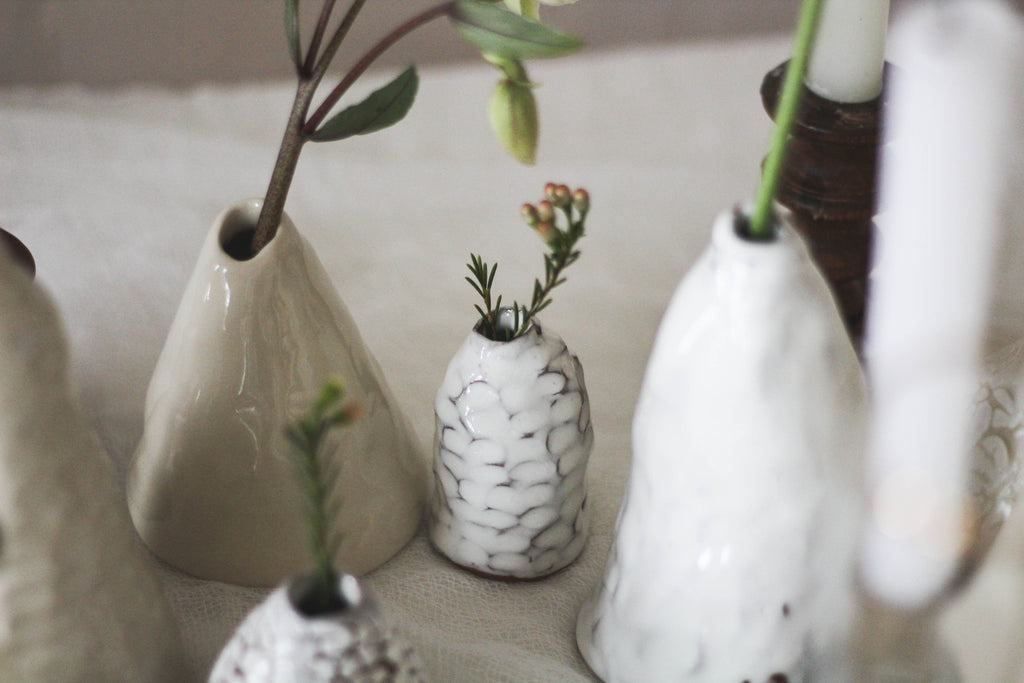 L&R Studio vases wedding close up