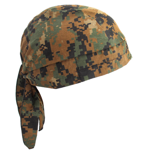 Kool Off Cooling Du-rag Skull Cap Hat , ACU Digital Camo Green Brown