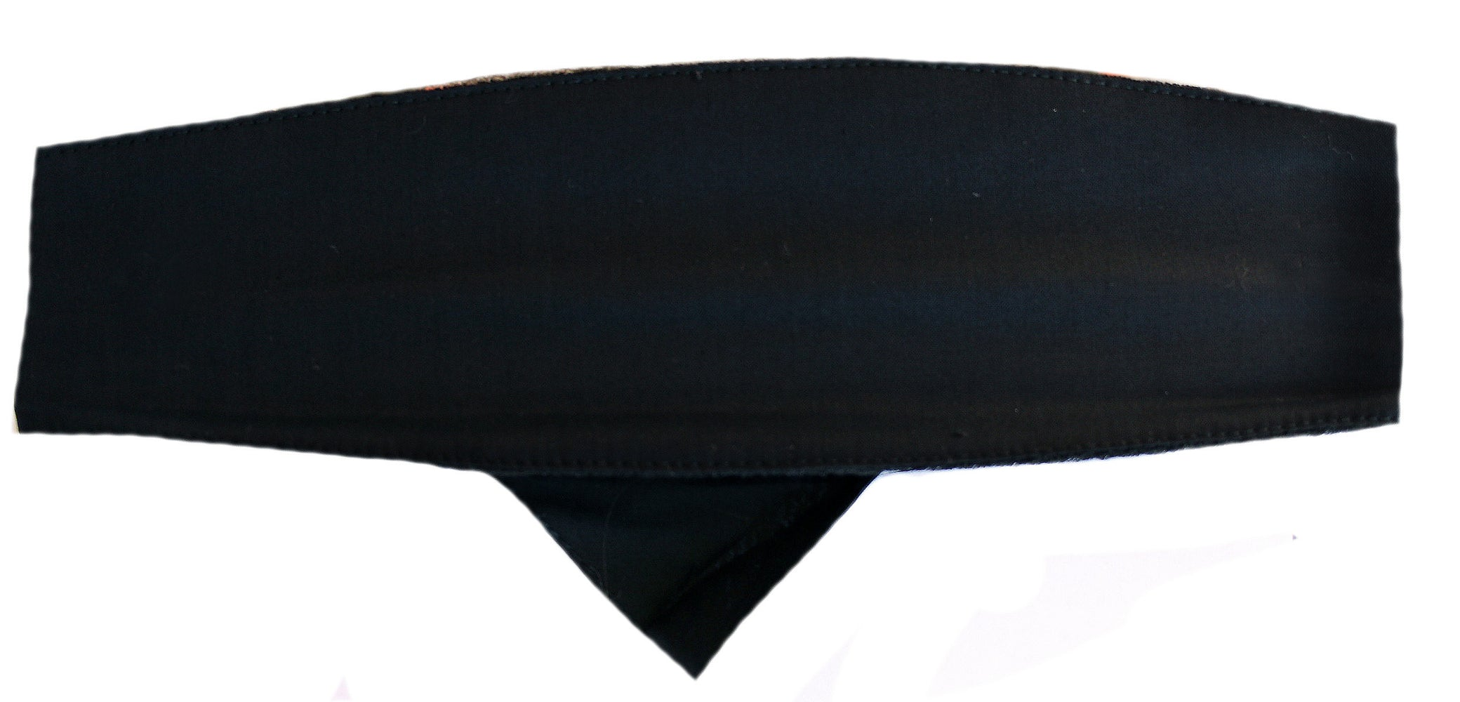 Chop Top Solid Black Du Rag