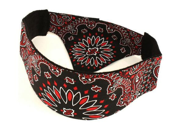 Reversed Paisley Red Chop Top Biker Doo Wrap Bandana