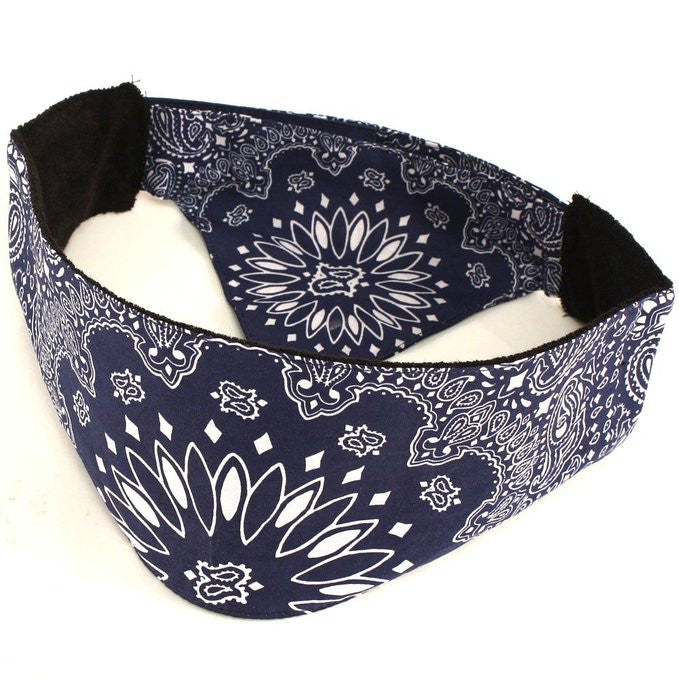 Chop Top Bandana Head Biker Paisley Blue
