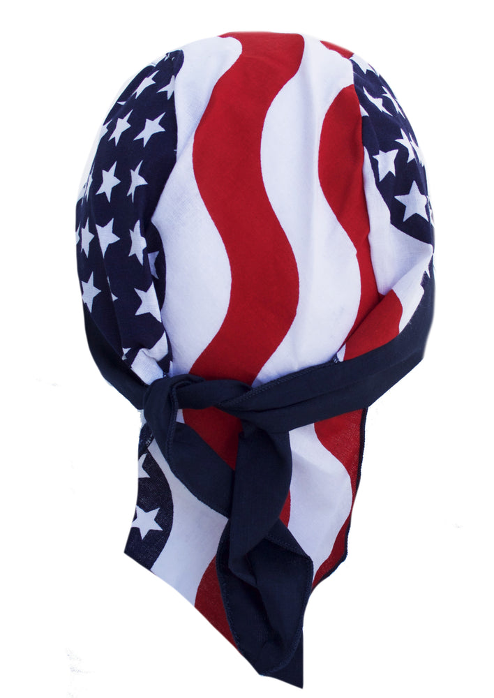 Stars & Stripes USA American Flag Skull Cap