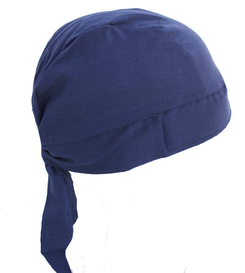 Solid Navy Blue Skull Cap Hat