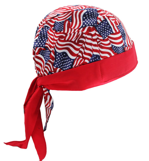 Red Stars & Stripes USA American Flag Skull Cap