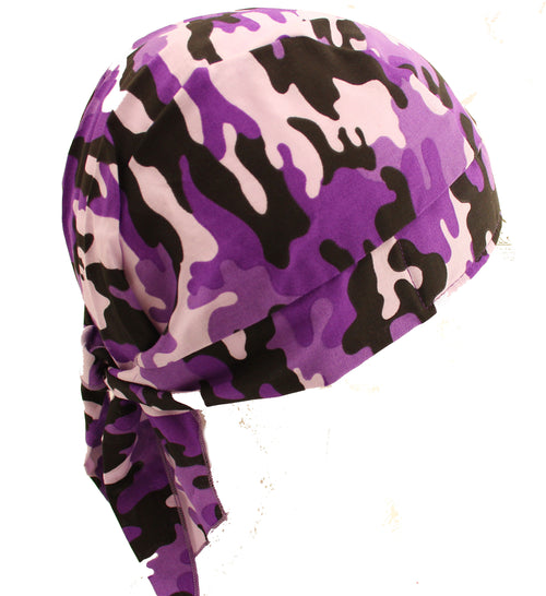 Purple Camo Skull Cap