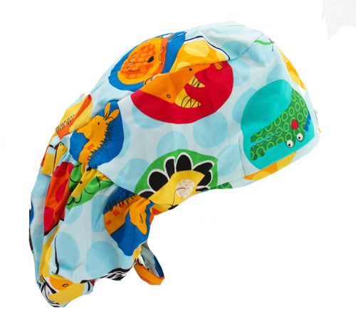 Crazy Animals Bouffant Surgical Scrub Cap Hat