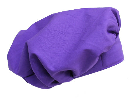Solid Purple Bouffant Surgical Scrub Cap with cord lock tie