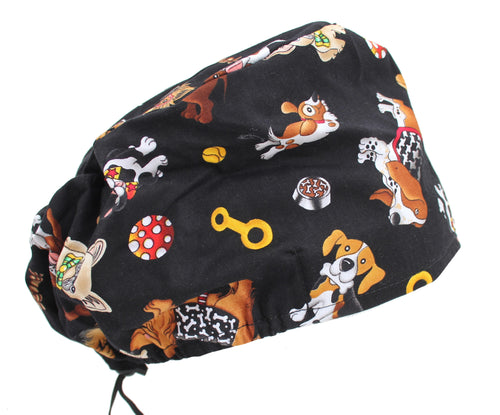 Fun Dog Surgical Scrub Bouffant Cap Hat