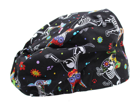 Funny Colorful X-Ray Dogs Surgical Bouffant Scrub Cap Hat