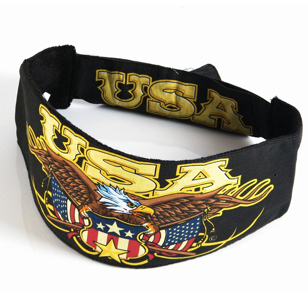 USA Eagle Chop Top Biker Doo Wrap Velcro Bandana
