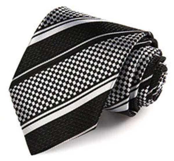 Mamba Check Tie and Pocket Square - SOPHGENT