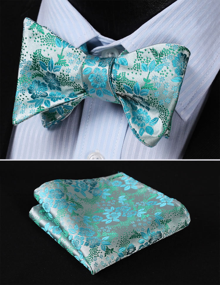 Gemstone Bow Tie and Pocket Square - SOPHGENT
