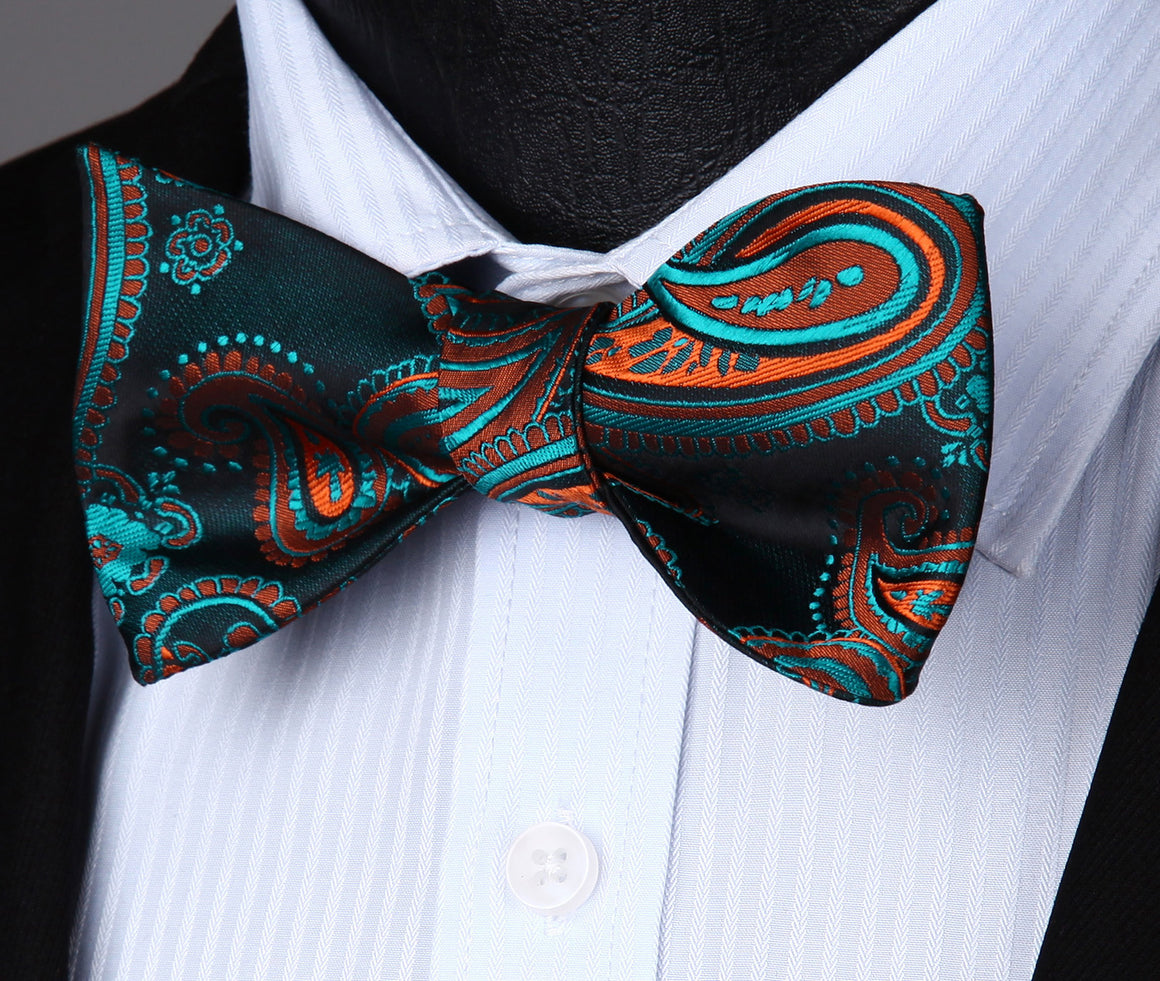 Toucan Bow Tie and Pocket Square - SOPHGENT