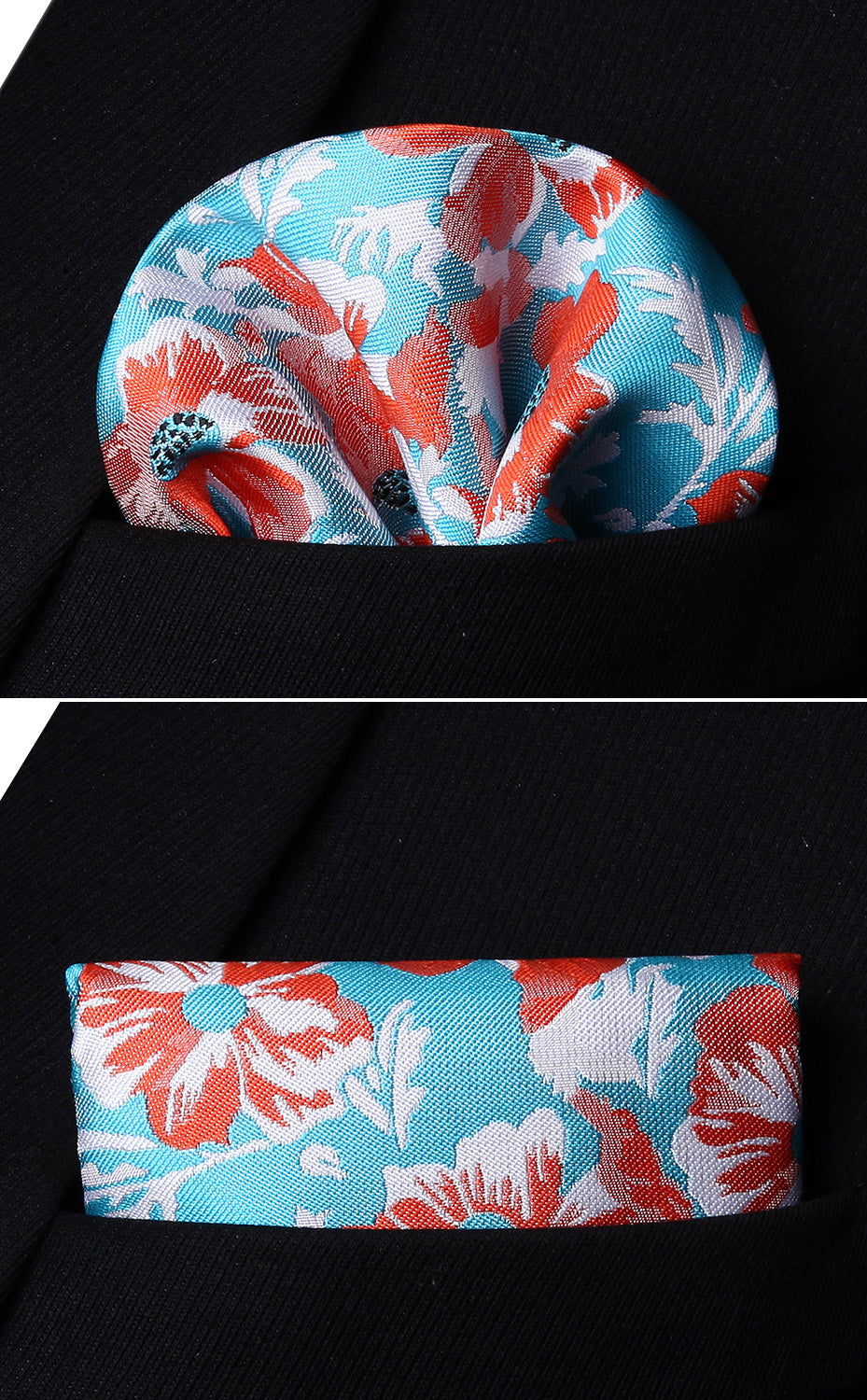 Red Flowers Bow Tie and Pocket Square - SOPHGENT