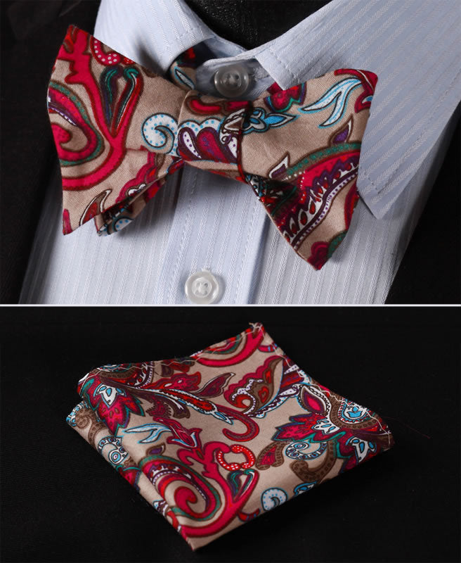 Floral Statement Bow Tie and Pocket Square - SOPHGENT