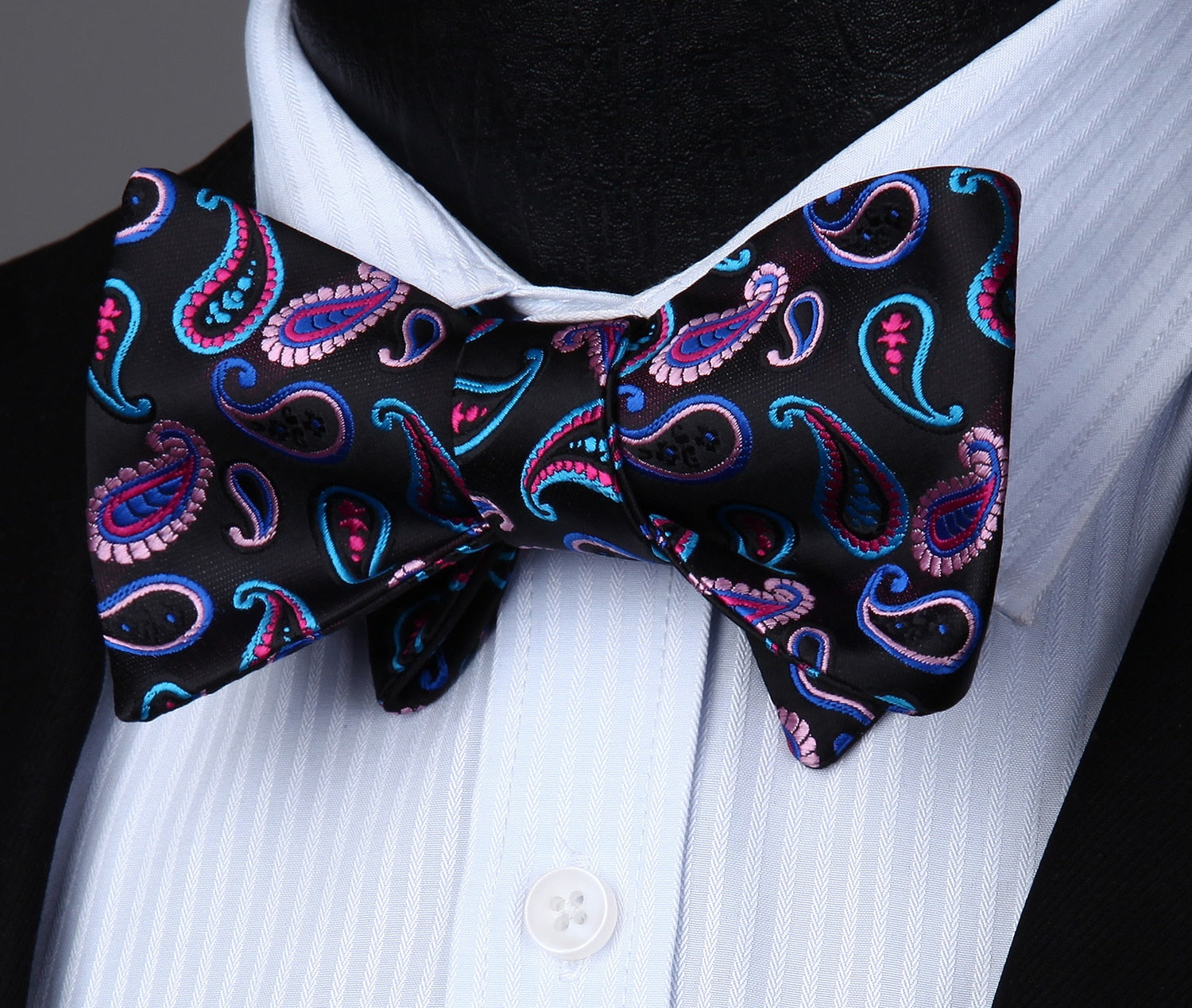 1d8a798fcf56 ... Neon Paisley Bow Tie and Pocket Square - SOPHGENT ...