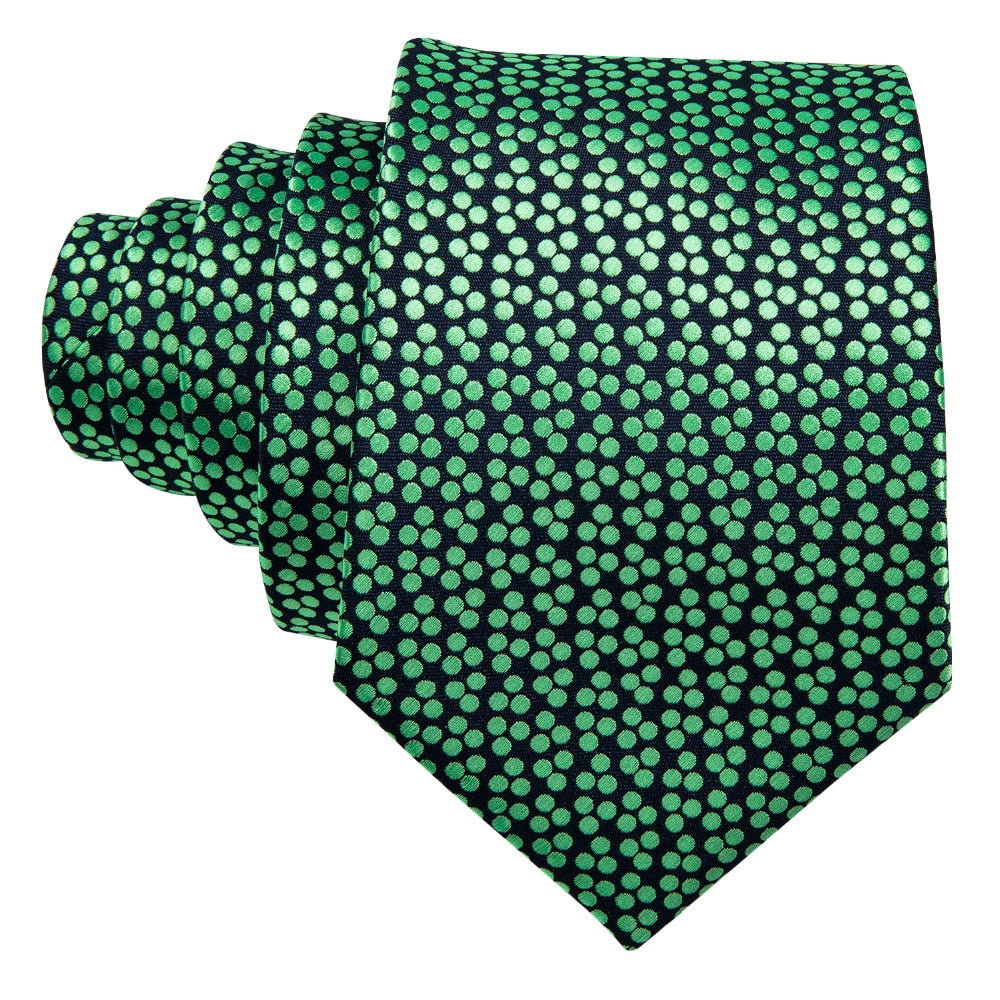 Modern Green Dots Tie Set - SOPHGENT