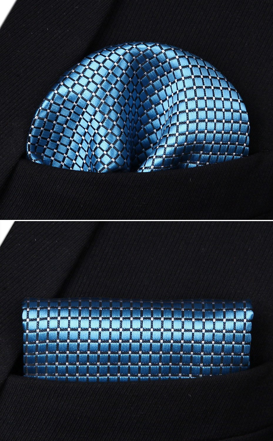 Blue Tand Bow tie and Pocket Square - SOPHGENT