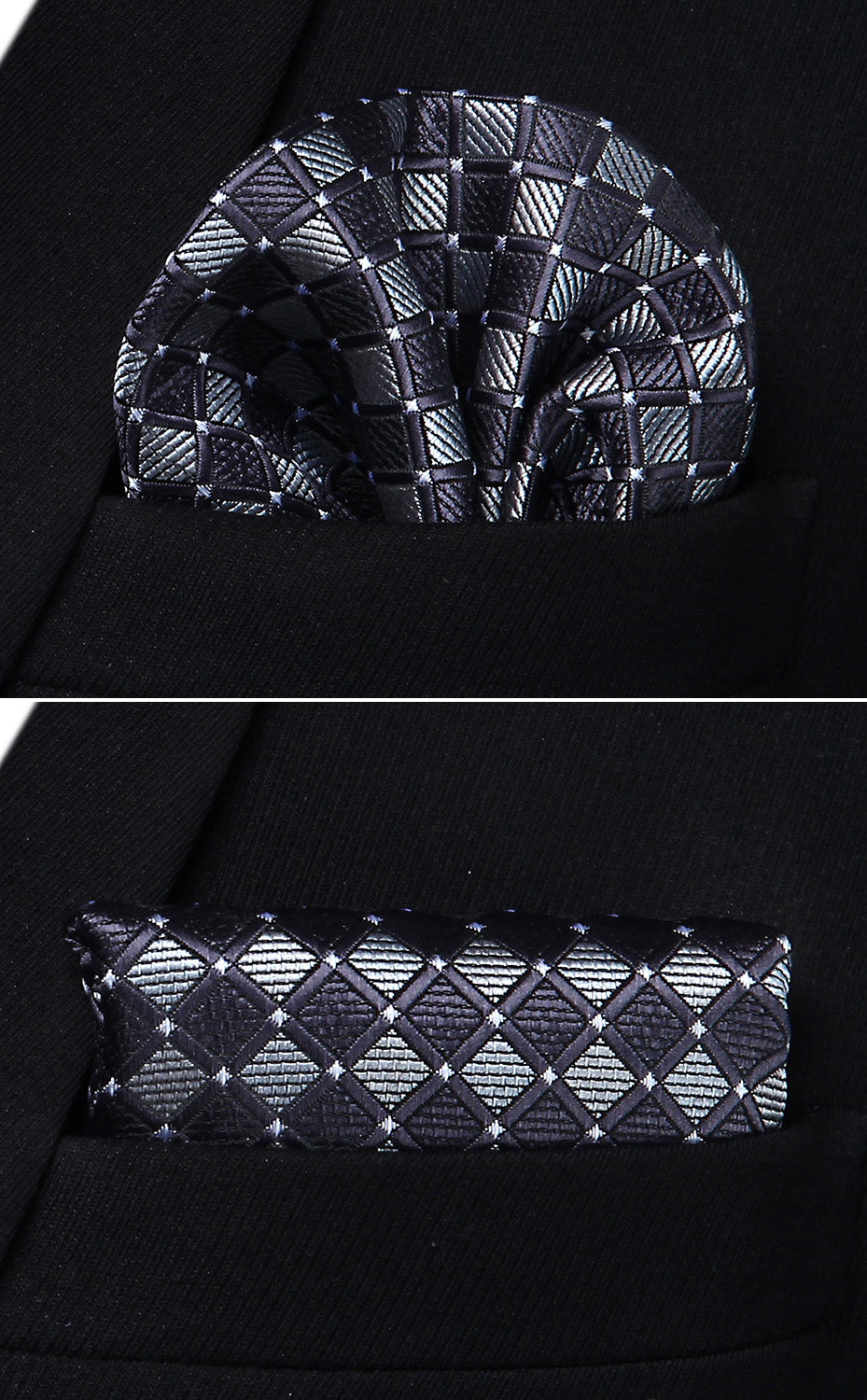 Modern Checks Bow Tie and Pocket Square - SOPHGENT