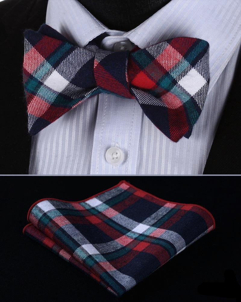 Stewart Royal Tartan Bow Tie and Pocket Squa - SOPHGENT