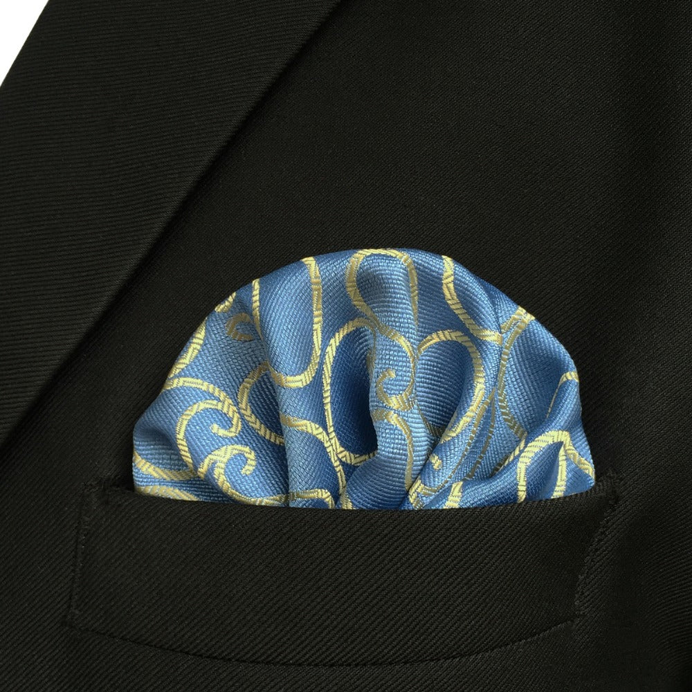 Yellow Meets Blue Tie and Pocket Square - SOPHGENT